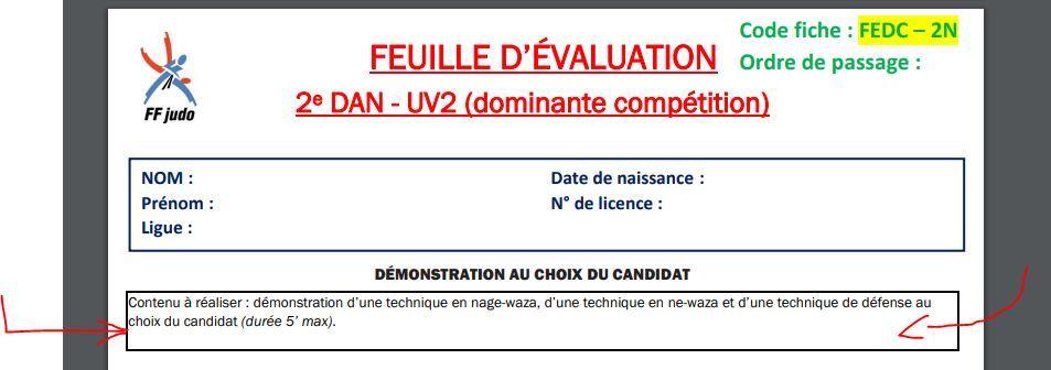 fiche ffj 2eme dan, prestation 2eme dan judo - 2